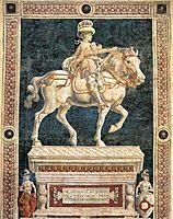 Equestrian monument to Niccolo da Tolentino, 1456, castagno