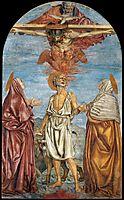 Holy Trinity with St. Jerome, c.1453, castagno