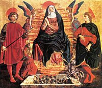 Our Lady of the Assumption with Saints Miniato and Julian, 1450, castagno