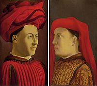 Portraits of two members of Medici family, castagno