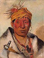 Ah-yaw-ne-tak-oár-ron, a Warrior, 1831, catlin