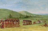 Ball-Play Dance, 1835, catlin