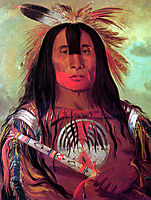 Buffalo Bull-s Back Fat (Stu-mick-o-súcks) Head Chief of the Blood Tribe (Blackfoot), 1832, catlin