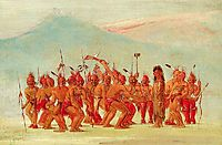 Dance to the Berdache (Sac and Fox), catlin