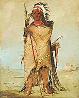 Hó-ra-tó-a, a Brave, Fort Union (Crow/Apsaalooke), 1832, catlin