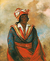 Kút-tee-o-túb-bee, How Did He Kill, a Noted Brave (Choctaw), 1834, catlin