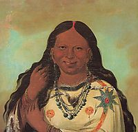Kei-a-gis-gis, a woman of the Plains Ojibwa, 1832, catlin