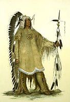 Mah-to-toh-pe (Four Bears, Mandan chief), 1833, catlin