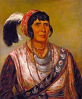 Osceola, Head Chief, Seminole, 1838, catlin