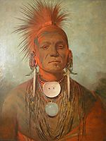 See-non-ty-a, an Iowa Medicine Man, 1845, catlin