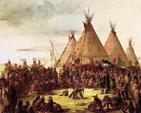 Sioux War Council, catlin
