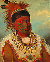 The White Cloud, Head Chief of the Iowa, 1845, catlin