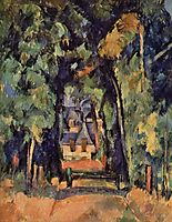 The Alley at Chantilly, 1888, cezanne