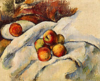 Apples on a Sheet, c.1900, cezanne