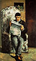 The Artist-s Father Reading his Newspaper , 1866, cezanne