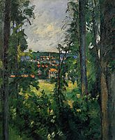 Auvers. View from Nearby, c.1877, cezanne