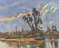 Bank of the Oise, 1888, cezanne