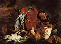 The Barque of Dante (after Delacroix), 1870, cezanne