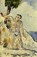 Bather with Arms Spread, 1876, cezanne