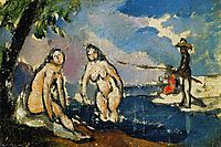 Bathers and Fisherman with a Line, 1872, cezanne