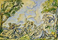 The Battle of Love, 1876, cezanne