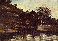 Bend in the River, c.1868, cezanne