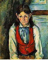 Boy in a Red Vest , 1890, cezanne