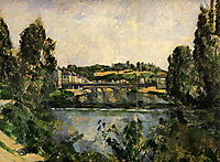 Bridge and Waterfall at Pontoise, 1881, cezanne