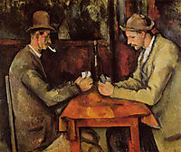 The Card Players , 1896, cezanne