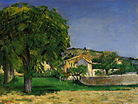Chestnut Trees and Farmstead of Jas de Bouffin, 1876, cezanne