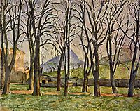 Chestnut Trees at the Jas de Bouffan, 1887, cezanne