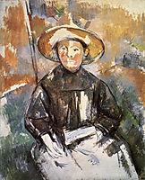Child in a Straw Hat, 1902, cezanne
