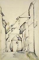 Church of Saint-Pierre in Avon, c.1894, cezanne