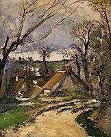 Cottages of Auvers, c.1873, cezanne