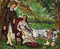 Couple in a Garden, c.1873, cezanne