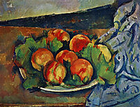 Dish of Peaches, c.1894, cezanne