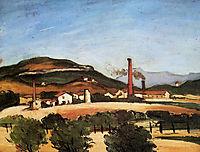 Factories Near Mont de Cengle, c.1870, cezanne