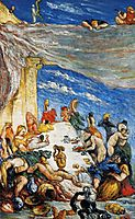The Feast. The Banquet of Nebuchadnezzar , c.1870, cezanne