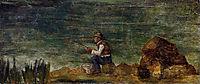 Fisherman on the Rocks, c.1864, cezanne