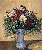 Flowers in a Blue Vase, c.1875, cezanne