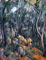 Forest near the rocky caves above the Chateau Noir, 1904, cezanne