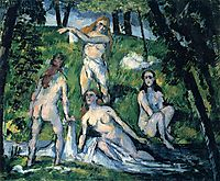 Four Bathers, 1878, cezanne