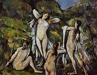 Four Bathers, c.1890, cezanne