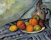 Fruit and Jug on a Table, c.1894, cezanne