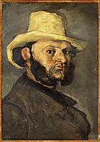 Gustave Boyer in a Straw Hat, c.1871, cezanne