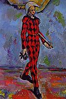 Harlequin , 1890, cezanne