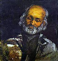 Head of an Old Man, 1866, cezanne