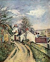The House of Dr. Gached in Auvers, 1873, cezanne