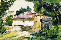 House in Provence, 1867, cezanne