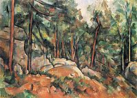 In the Forest, 1899, cezanne